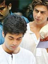 http://www.tribuneindia.com  Karan at the funeral of his father - Legend Yash Johar