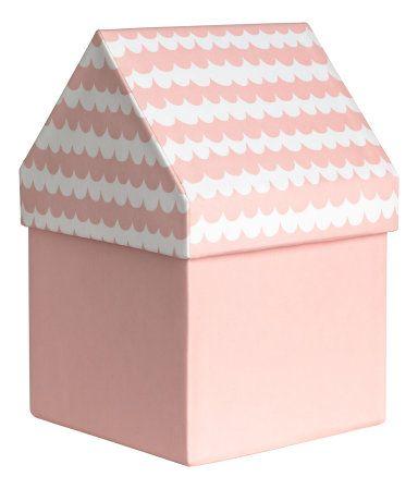 Storage Box | Light pink/patterned | H&m home | H&M US