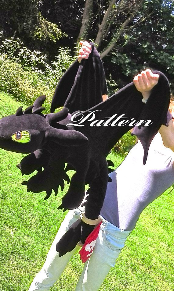Toothless plush pattern PDF/Word - How to train your dragon