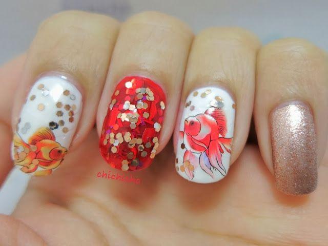 Chinese New Year Nail Art - 年年有餘 | chichicho~ nail art addicts