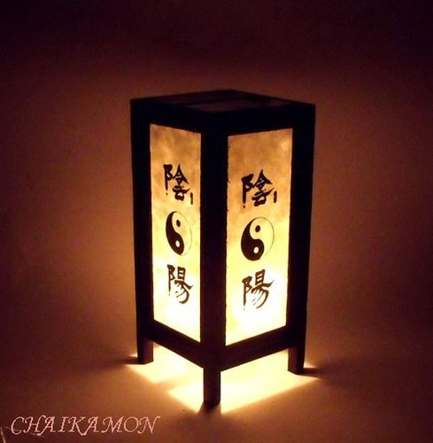 Japanese Bedroom Yin-Yang Oriental Art Table Lamp Light | eBay