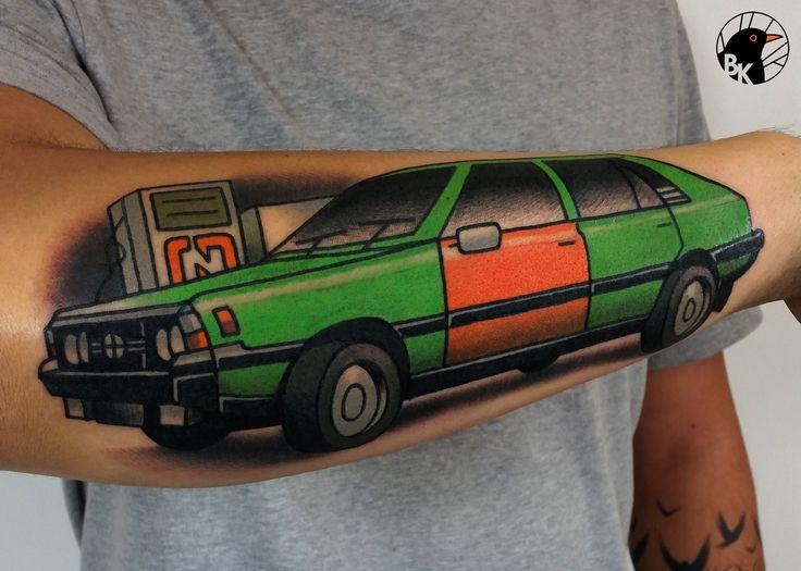 polish classic car: Polonez  by Bartek Kos Tattoo  https://www.instagram.com/bk_tats/