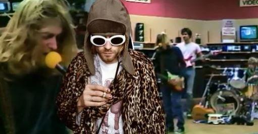 (adsbygoogle = window.adsbygoogle || []).push();   Kurt Cobain cumpliría 50 años este 2017, ahora es un ícono de la música, pero en 1988 era parte de una banda que todavía no se llamaba Nirvana. Un video grabado entonces, mientras tocaban en una tienda de electrónicos, ha salido a...
