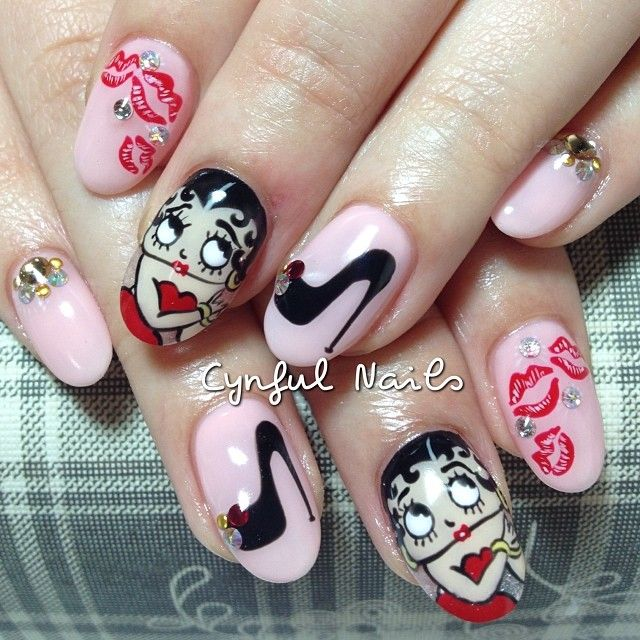Betty Boop Nails: 1000+ Ideas About Sexy Nail Art On Pinterest