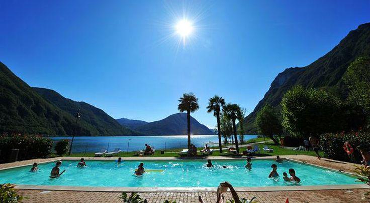Vakantiepark Meer van Lugano met zwembad, strand en restaurant