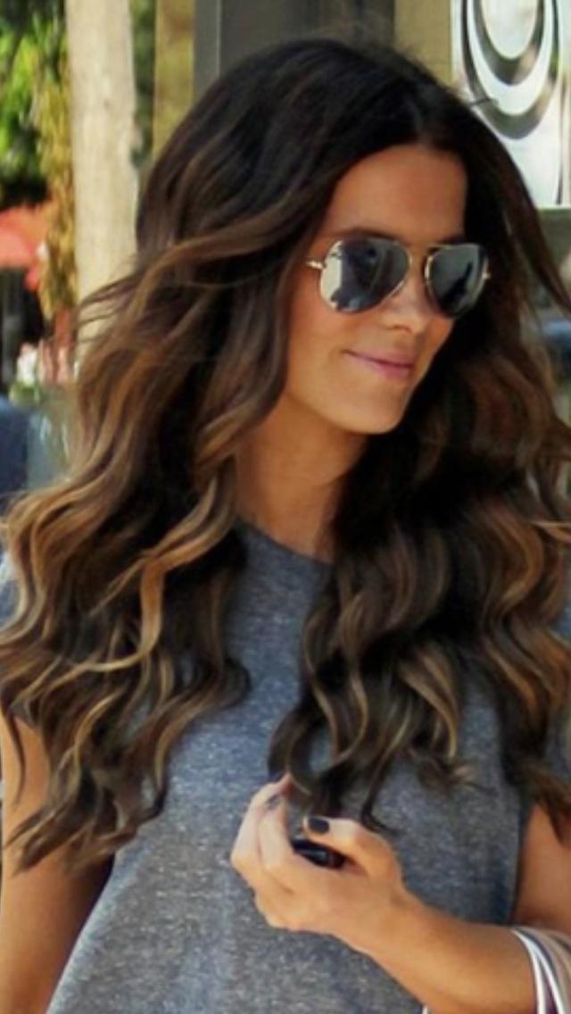 Dark, wavy ombré-ish hair | My Style | Pinterest