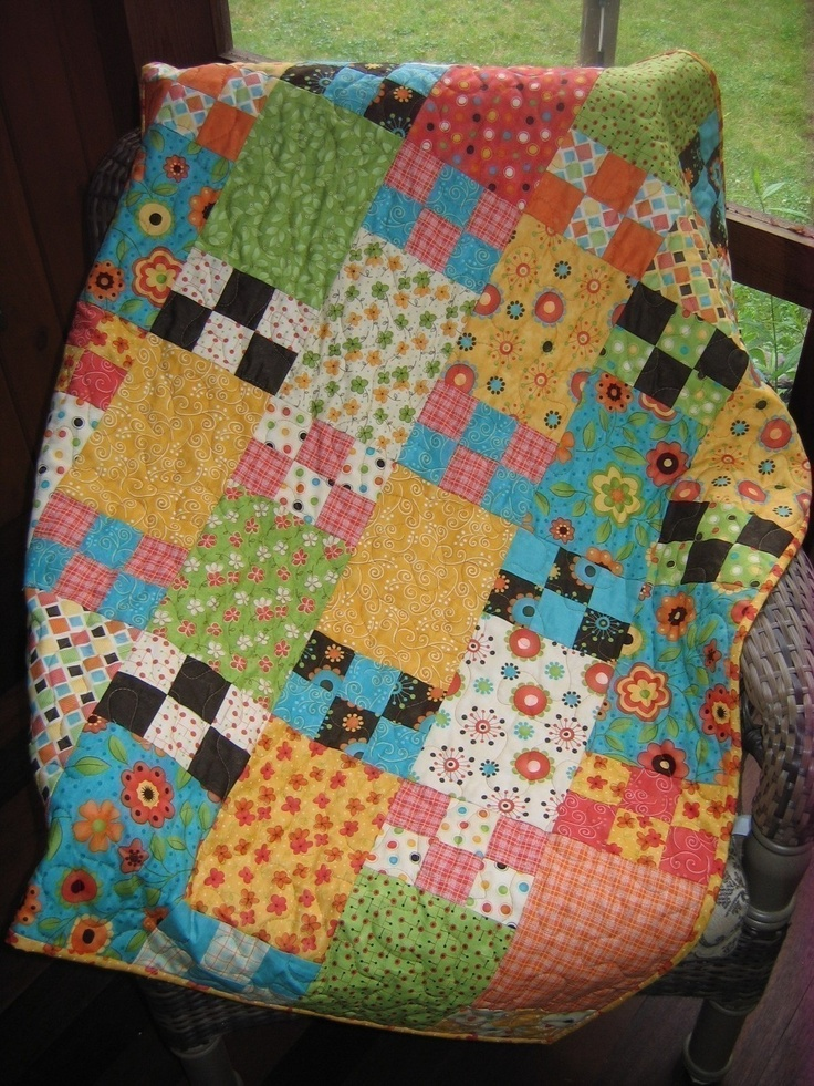 1278 Best images about Quilts-Plain Blocks-Squares and Rectangles on Pinterest Fat quarters ...