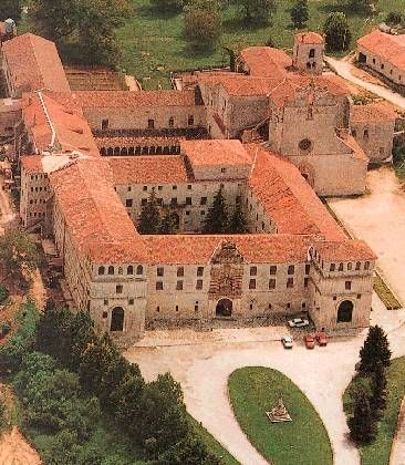 Monasterio San Pedro de Cardeña, Burgos.  First burial site of Rodrigo Díaz de Vivar AKA el Cid (d. Jun 1099), Mike's 29th great-grandfather.  Moved to Burgos Cathedral.