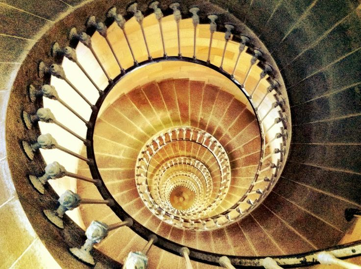 Love this spiral staircase from Phare des Baleines. Ile De Re
