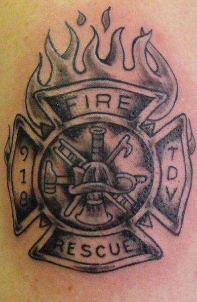 firefighter maltese cross tattoo