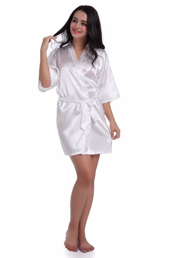 Women Satin silk robes Wedding Robe Bridesmaid Bride maid of honor Dressing  Gown robes Wedding Robe 234cb1ab4