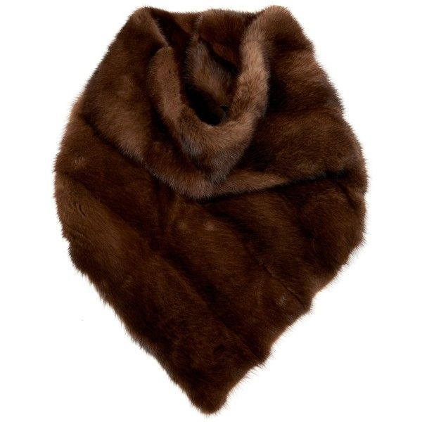 32 Paradis Sprung Frères Yasue brown mink-fur scarf ($1,851) ❤ liked on Polyvore featuring accessories, scarves, brown, mink shawl, brown shawl, bandana scarves, mink fur shawl and mink scarves