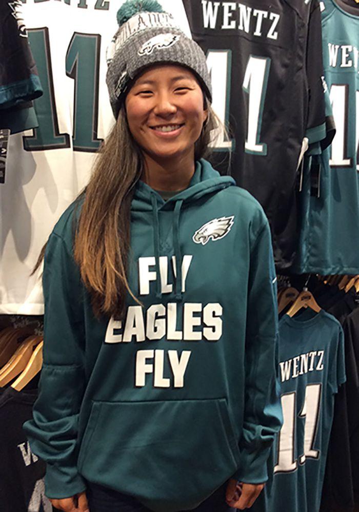 brand new c6173 fb3eb Nike Philadelphia Eagles Mens Midnight Green Fly Eagles Fly ...