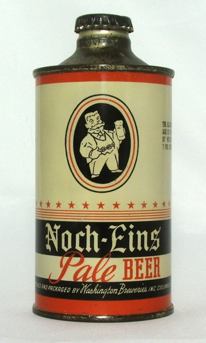 Scarce Noch-Eins Pale Beer 12 oz.J-Spout Cone Top Beer Can-Columbus, Ohio