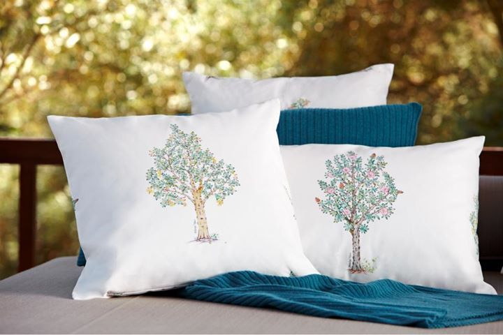 Those square throw cushions are Nevbahar designs inspired by the trees of Istanbul