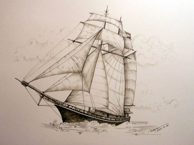 Pirate Ship Sketch 2 By Picturesofmaya Via Flickr