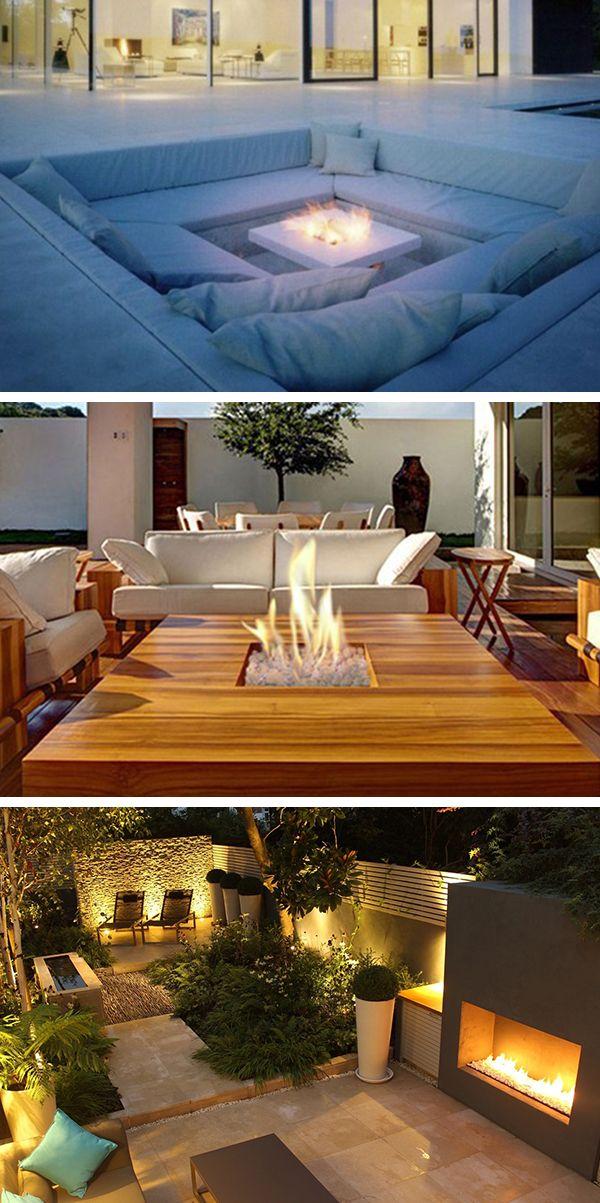 Agrémentez vos espaces extérieurs d'une cheminée au gaz pour profiter plus longtemps de vos jardins, terrasses, bords de piscine, parc... #brasero #chauffage #terrasse #gaz #cheminée #parc #feu #Italkero #barazzi www.barazzi.fr