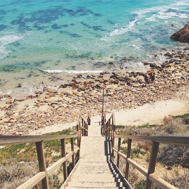 Stairs at Point Dume State Beach, Malibu, California // via julieskitchen