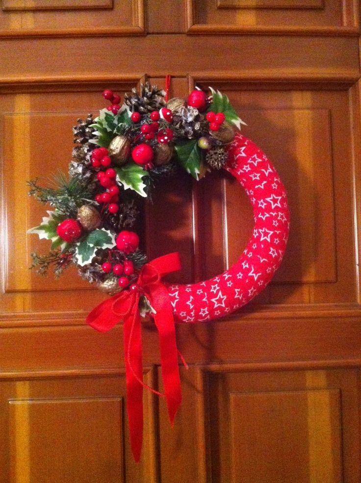 Ghirlanda natalizia lavorazione artigianale nature con luci a led batteria 2692, €47.50