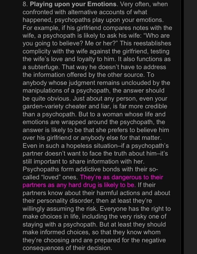 Sociopaths Manipulate yup that sums him up...here read the pfa while i cry in bed. disgusting.
