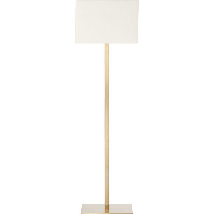 john metallic bronze floor lamp   CB2