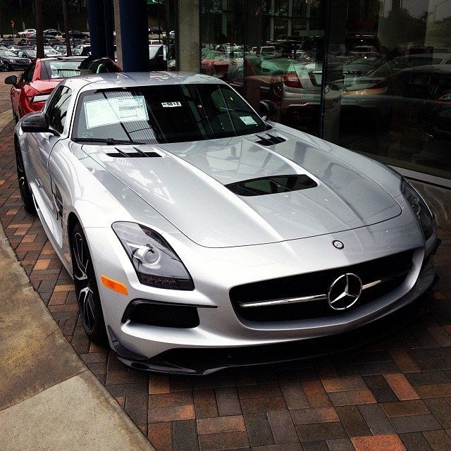 An SLS AMG Black Series at a dealership one of our team is visiting in Los Angeles.   #mercedes #amg #sls #black #mercedesbenz