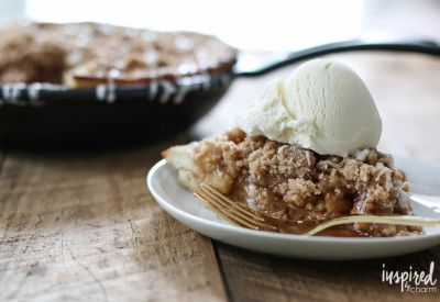 Skillet Apple Pizza Pie | Inspired by Charm