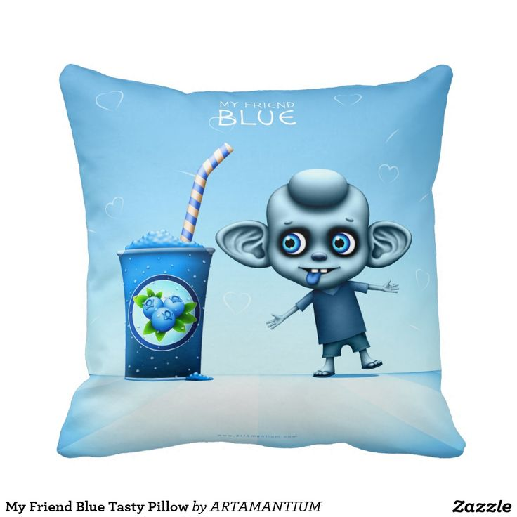 My Friend Blue Tasty Pillow