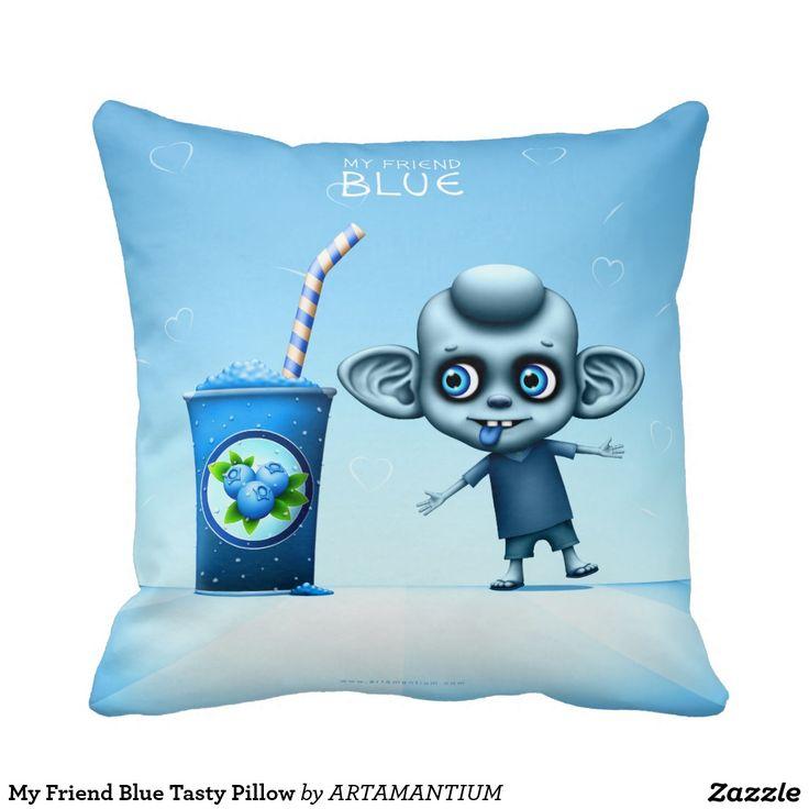 My Friend Blue Tasty Pillow