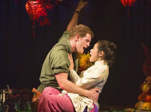 Miss Saigon- The only musical where they sing only cms away from each others faces beautifully done.