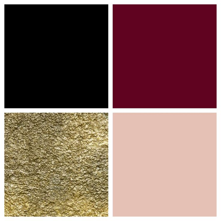 Gorgeous color palette: black, bordeaux, gold & blush...x