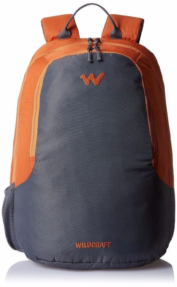 Wildcraft Turnaround Polyester 35 ltrs Blue/Nylon 28 Ltrs Orange Laptop Bag  #WildCraft