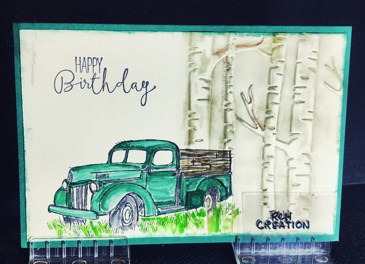 Original vintage truck card