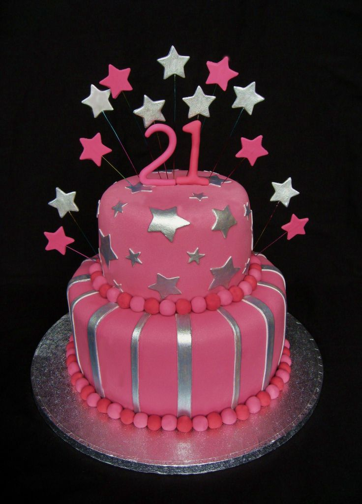 21st Birthday Cake - Girls 21st Birthday Cake
