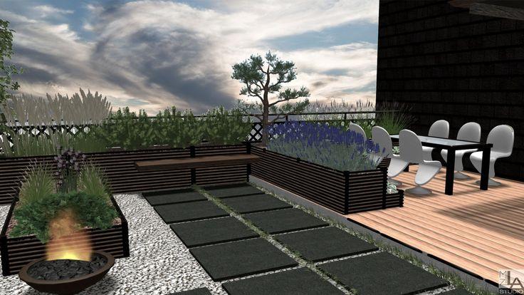 Nowoczesny ogród na dachu.