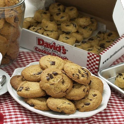 6 lb. Gourmet Pre-formed Cookie Dough - Chocolate Chunk by Davids Cookies at HSN.com - Home Shopping Network for $29.95 | ShopWaze