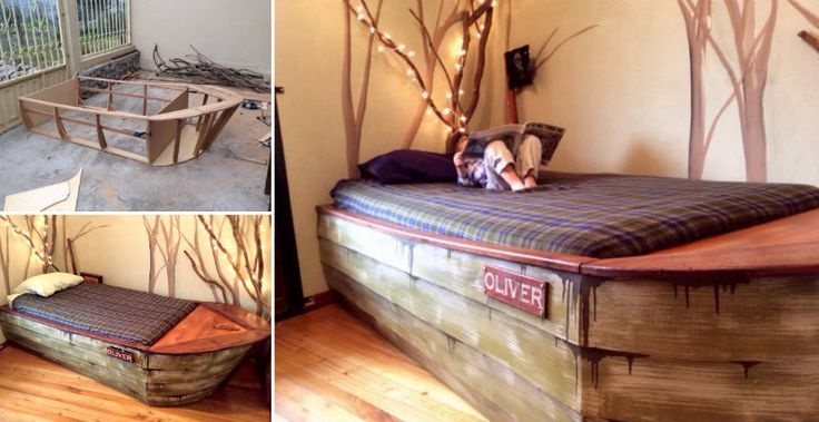 Build a marvelous Boat Bed and gain space to sleep and play!