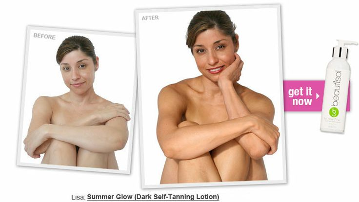 Just Natural Skin Tanning Before After