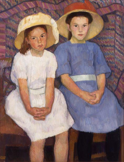 (1855-1938  Norway) Erik Werenskiold - Two Little Girls