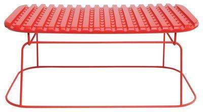 Scopri Tavolino Ajours -Rettangolare H 25 cm, Rosso di Eno, Made In Design Italia