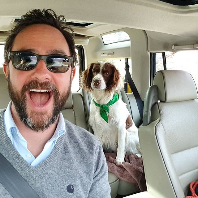Lads lads lads.  Another day another couple of winery visits.  Having once again filled the boot with wine Jackson gets to ride in the back and stare at me the whole time.  It's pretty cool being able to take your best mate to work with you every day. . . . . #mananddog #jacksonandseddon #wineclub #dogs #dogsofinstagram #instadog #instagood #ess #nofilter #nofilterneeded #organicwine #italian #italianwine #artisan #winelovers #winegeek #winegram