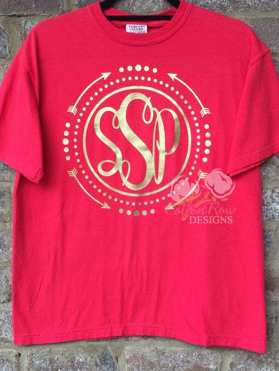Circle Arrow Monogram Shirt by CottonRowDesigns on Etsy