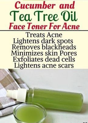 Cucumber and tea tree oil face toner for acne