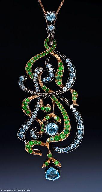 Faberge Art Nouveau pendant: