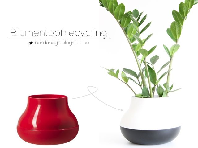 Blumentopfrecycling in schwarz-weiß | ★ NORDAHAGE