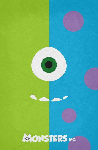 Monsters Inc - Minimalist Poster 02 Art Print