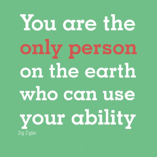 You are the only person on earth who can use your ability ♥
