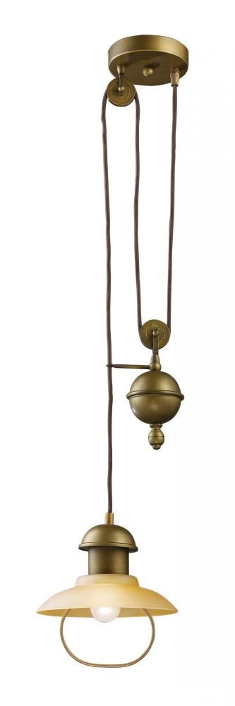 An Antique Brass Pulley System Mini Pendant From Landmark Lighting Is A Neat  Way To Add