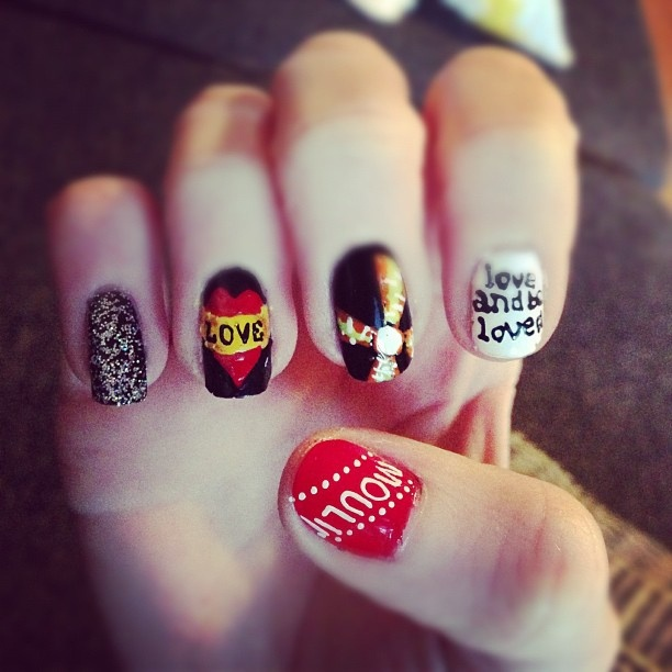 moulin rouge nail art | Nails! | Pinterest