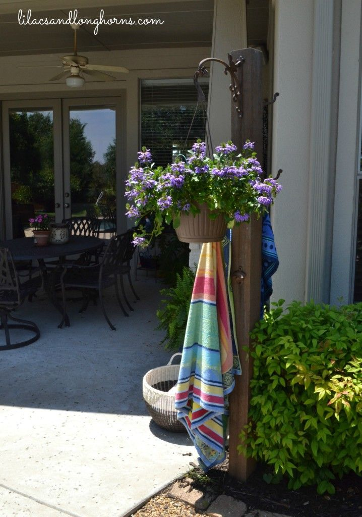how to make an outdoor towel warmer